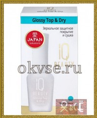 IQ BEAUTY Glossy Top & Dry - Зеркальное защитное покрытие и сушка, 12,5 мл
