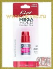 KISS MEGA HOLD PINK NAIL GLUE KISS КЛЕЙ ДЛЯ НОГТЕЙ,3g.