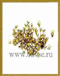 Solomeya Украшения для дизайна.Золотые слезинки Gold Tear Drop (Rhinestone) 3008 ( набор 130 шт.)